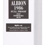 Velier Albion 1986 25 Année Rhum Vieux