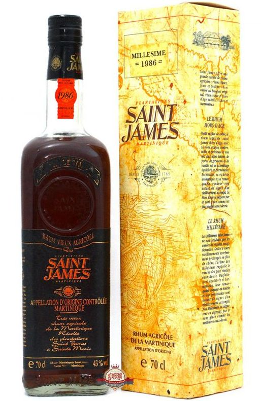 Saint-James-vintage-Ernte 1986