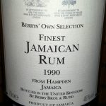 Berry Bros. & Rudd Hampden 1990 17 YO Jamaican Rum - Review