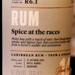 """SMWS R6.1 Barbados 2002 14 Year Old Rum (""""Spice At The Races"""") - Review"""