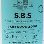 1423 S.B.S. Barbados (WIRD) 2000 16 YO Rum - Review