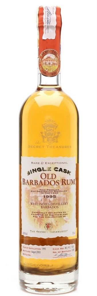 Secret Treasures Old Barbados (WIRR) 1995 8 YO Rum – Review