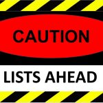 Opinion - Beware of Lists